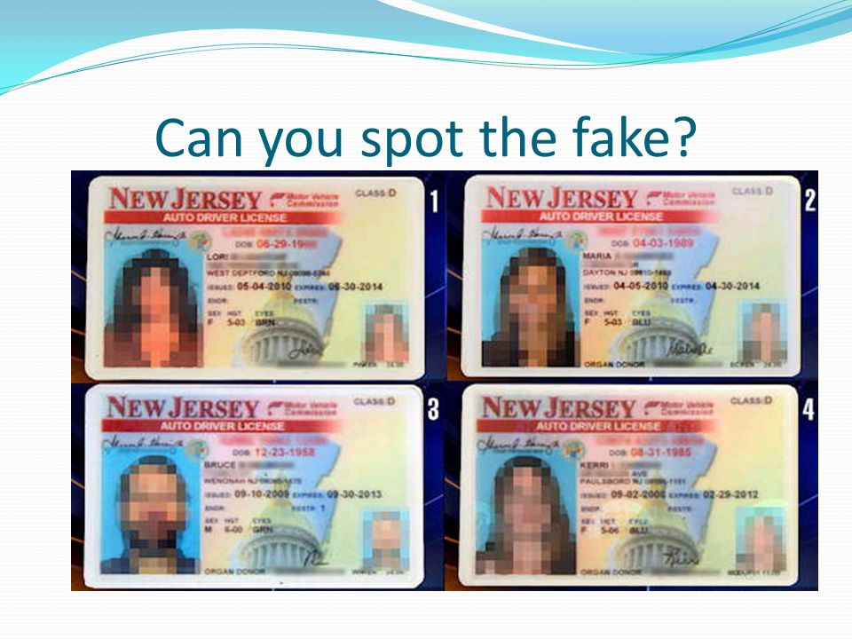 Can you spot the fake