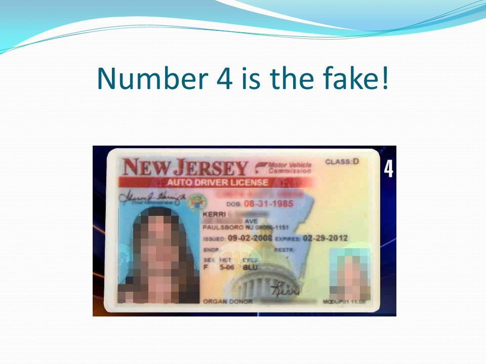 Number 4 is the fake!