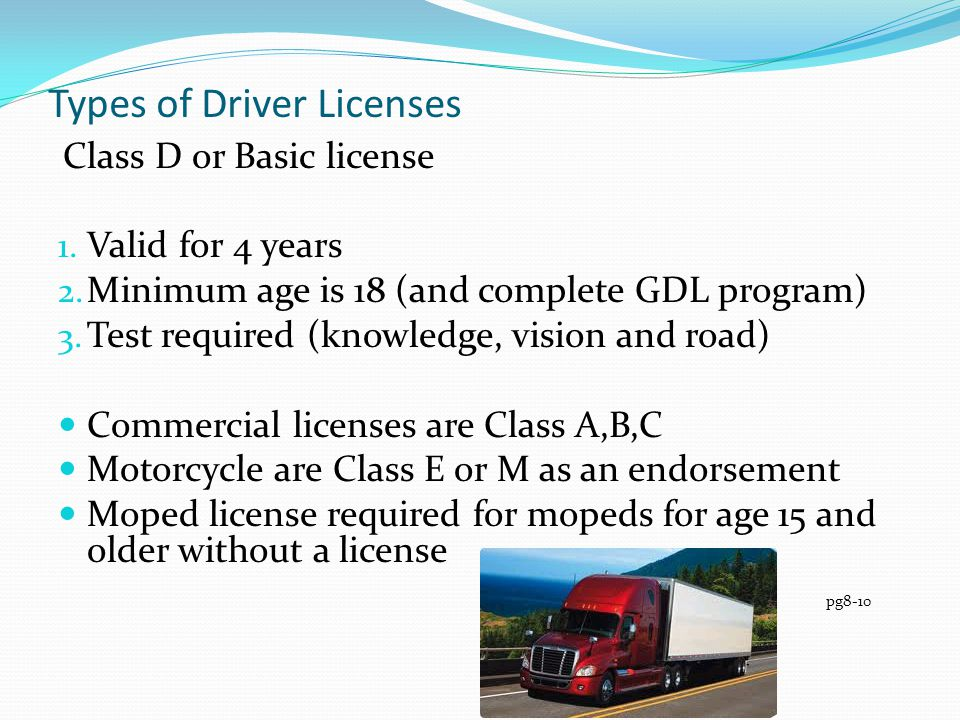Types of Driver Licenses