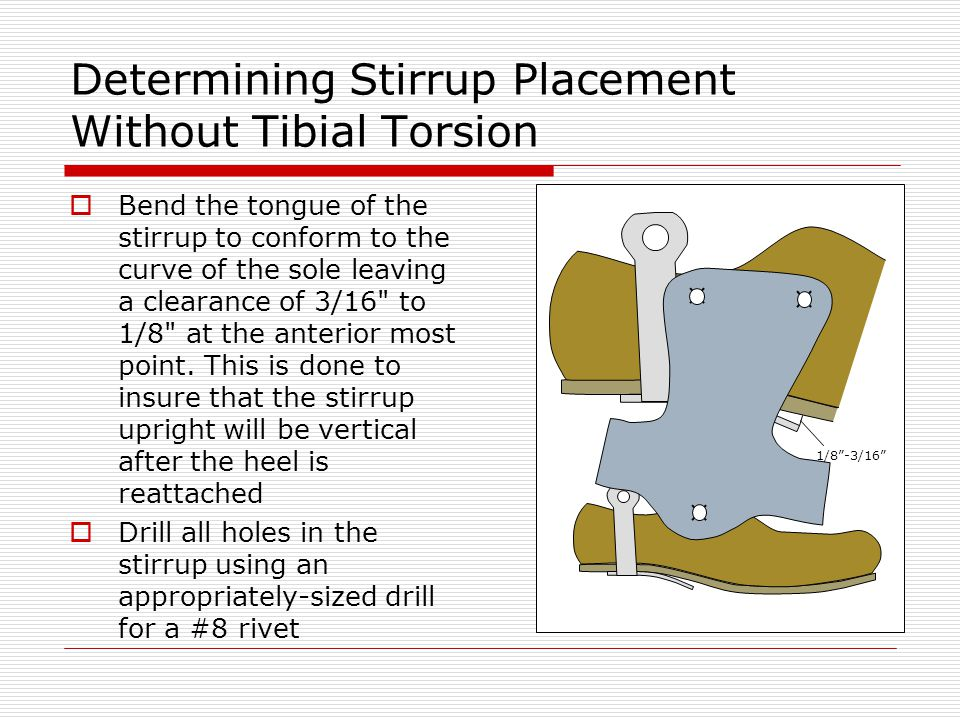 Determining Stirrup Placement Without Tibial Torsion