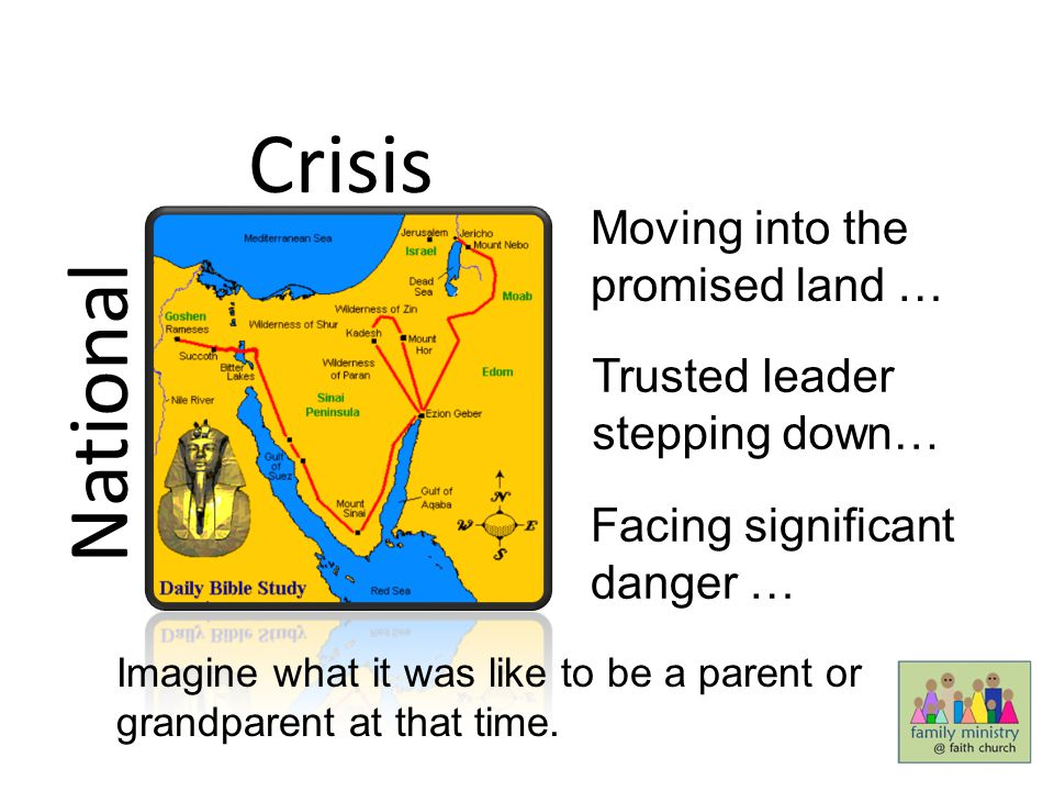 Crisis National Moving into the promised land …