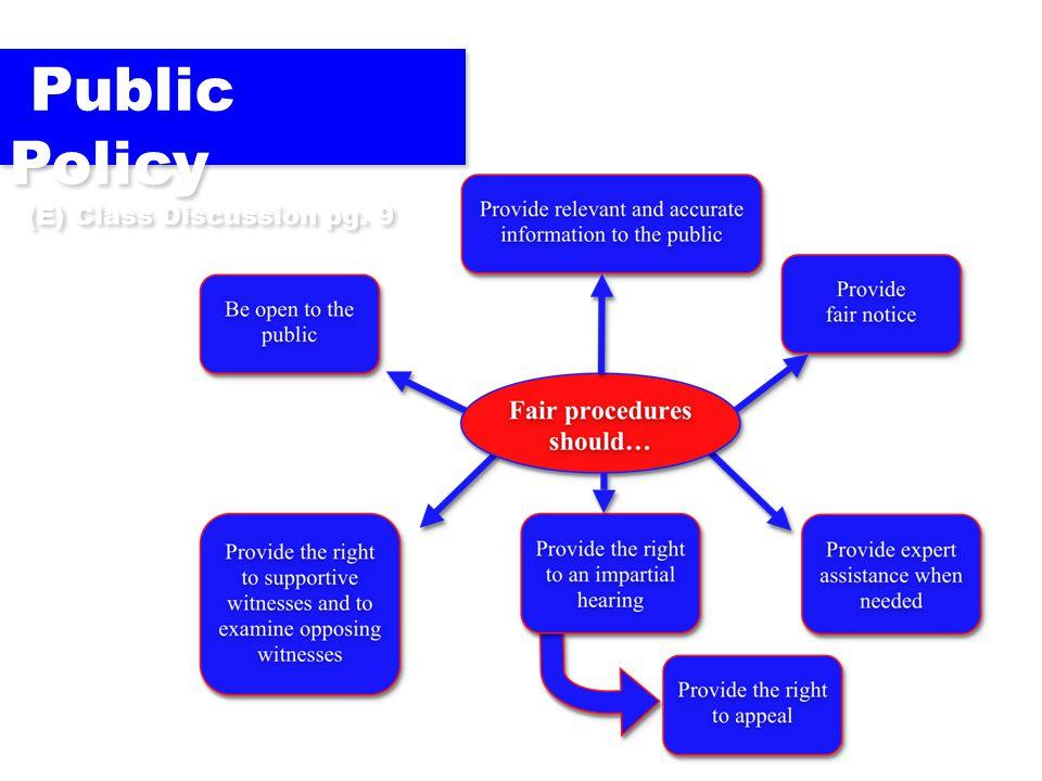 Public Policy (E) Class Discussion pg. 9