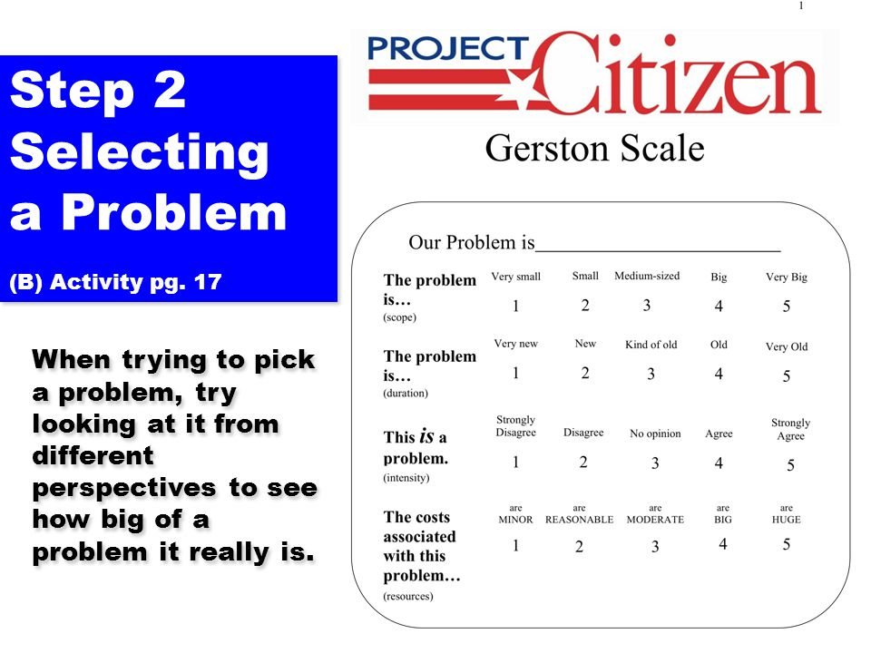 Step 2 Selecting a Problem