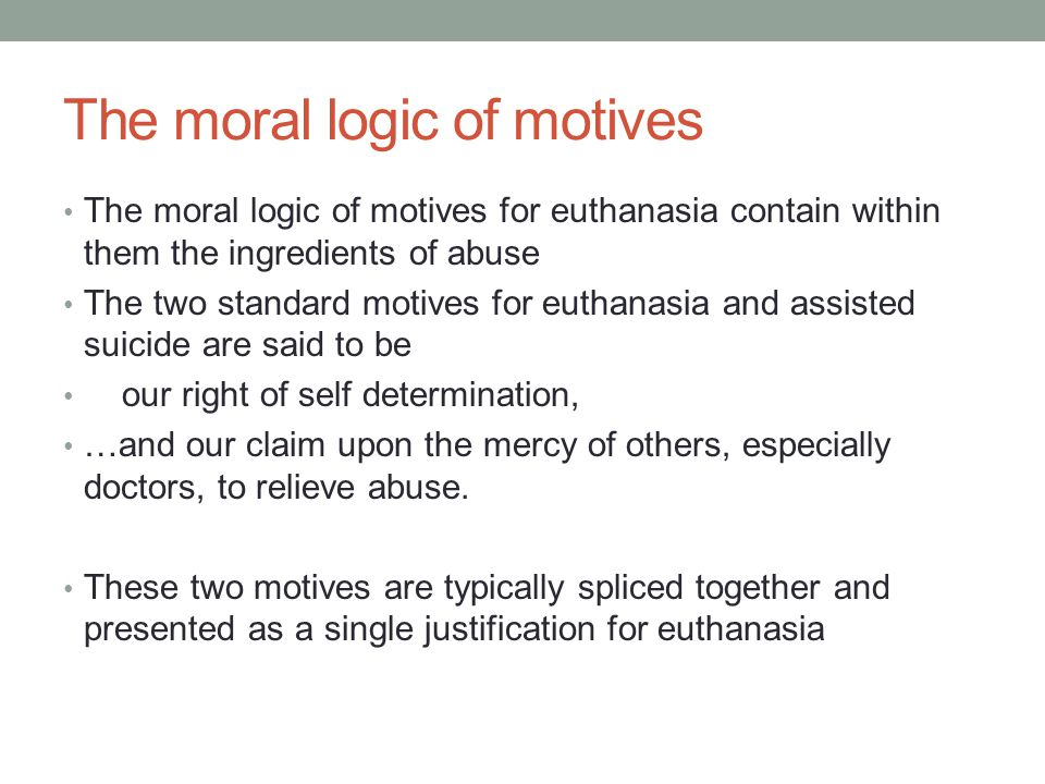 The moral logic of motives
