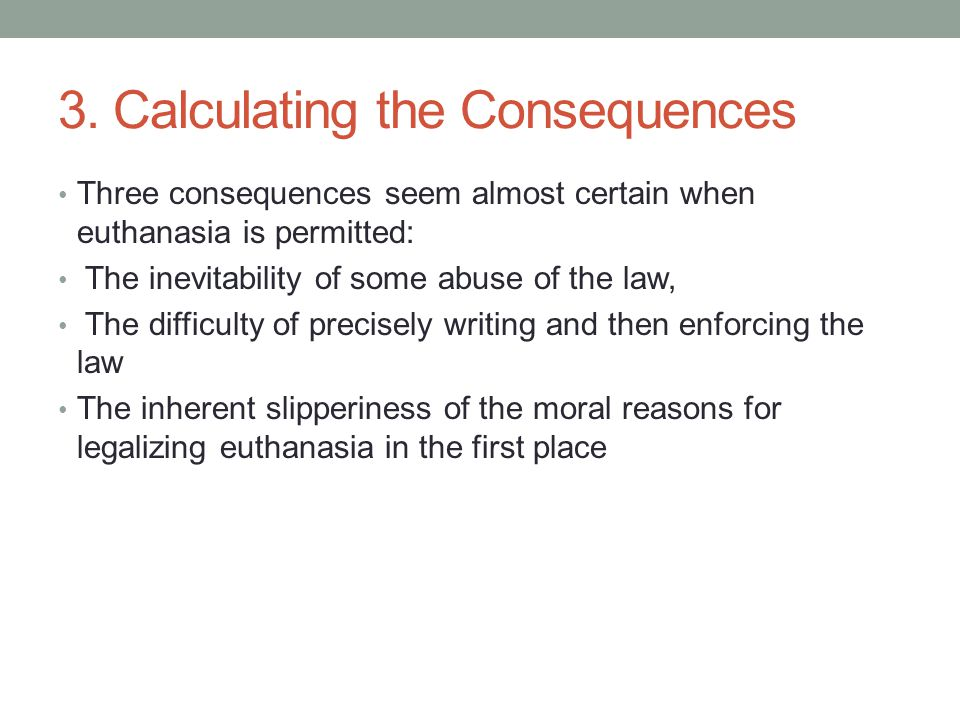 3. Calculating the Consequences