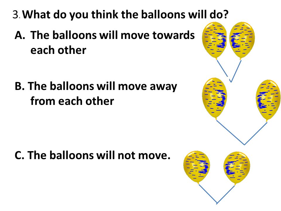 3. What do you think the balloons will do