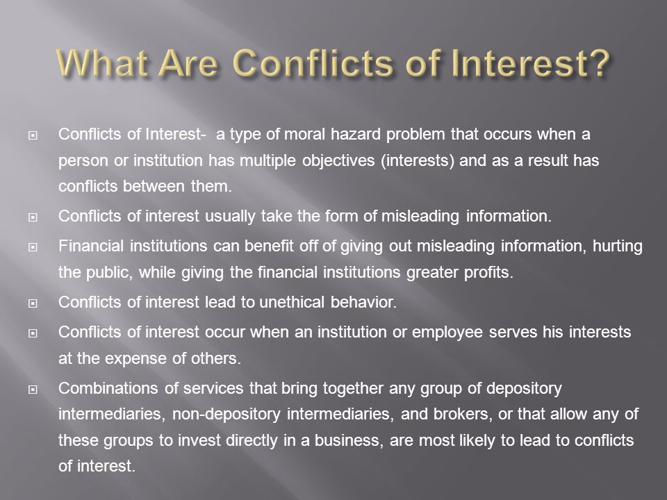 What Are Conflicts of Interest
