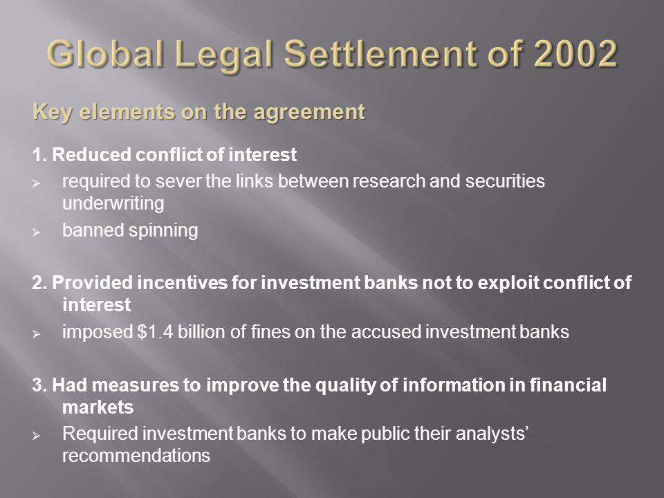 Global Legal Settlement of 2002