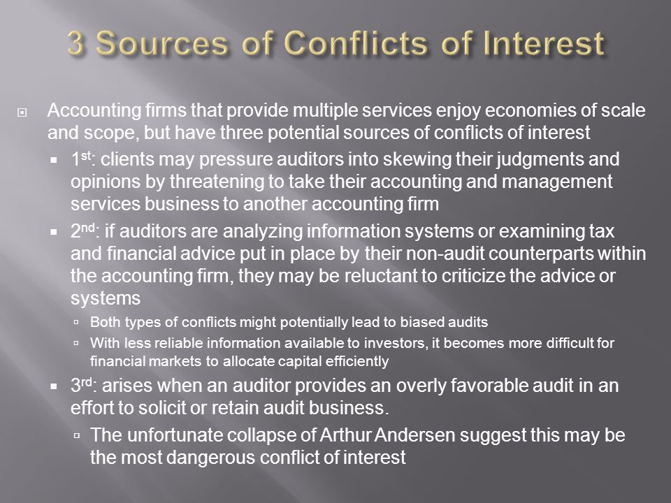 3 Sources of Conflicts of Interest