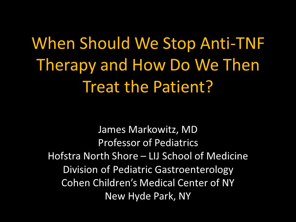 When Should We Stop Anti-TNF Therapy and How Do We Then Treat the Patient
