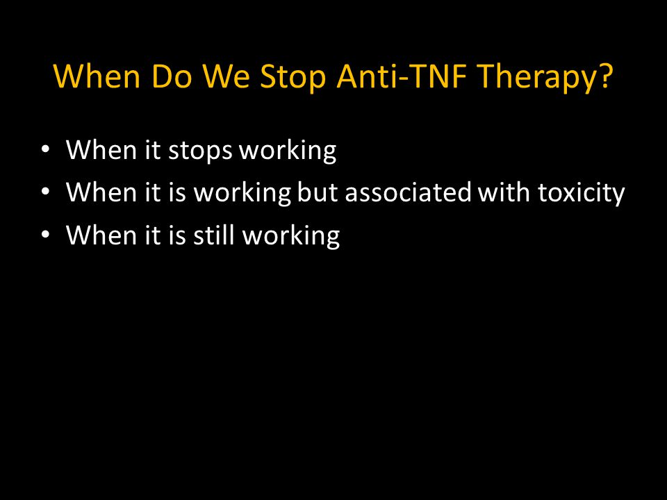 When Do We Stop Anti-TNF Therapy