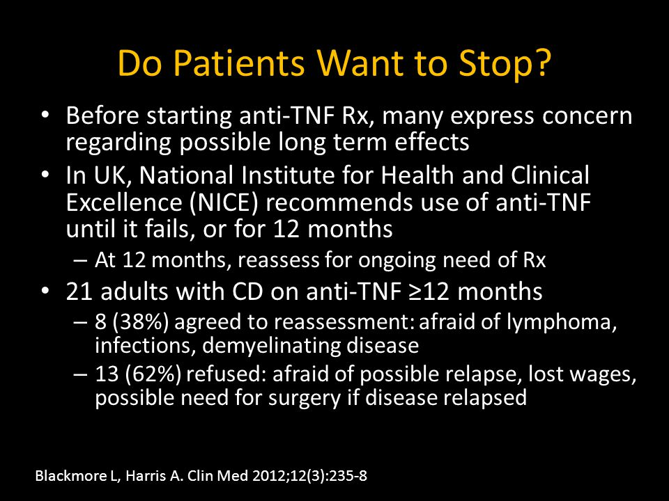 Do Patients Want to Stop