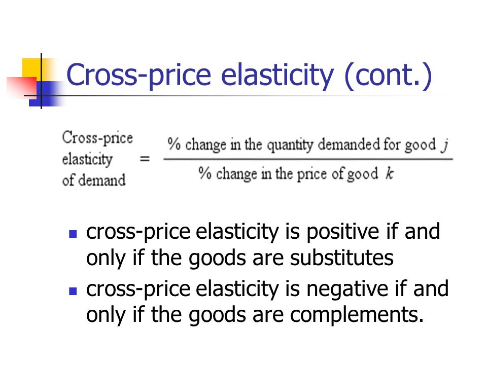 Cross-price elasticity (cont.)