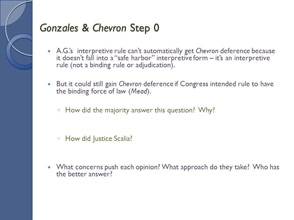 Gonzales & Chevron Step 0