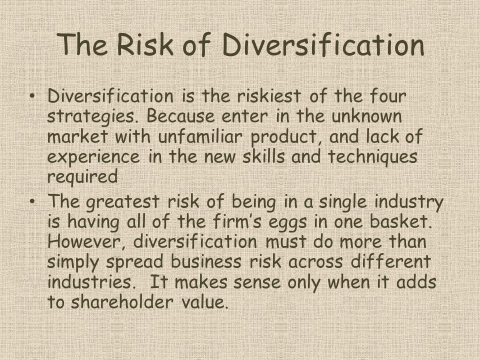 The Risk of Diversification