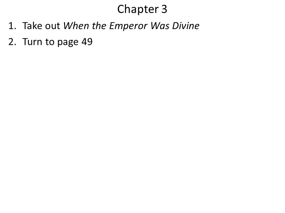 Chapter 3 Take out When the Emperor Was Divine Turn to page 49