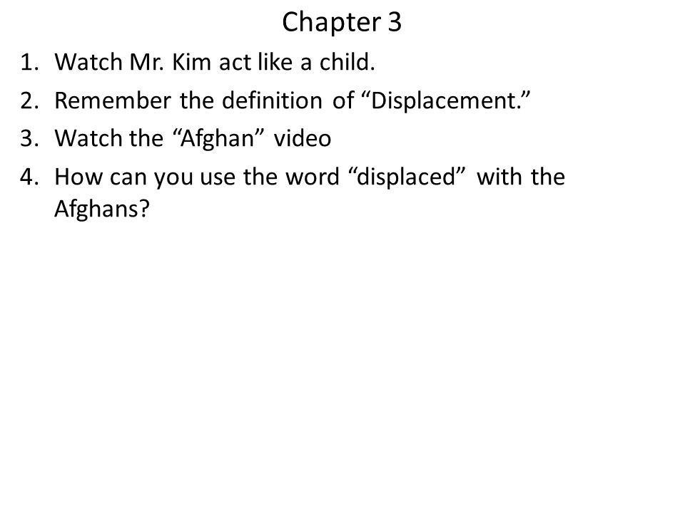 Chapter 3 Watch Mr. Kim act like a child.