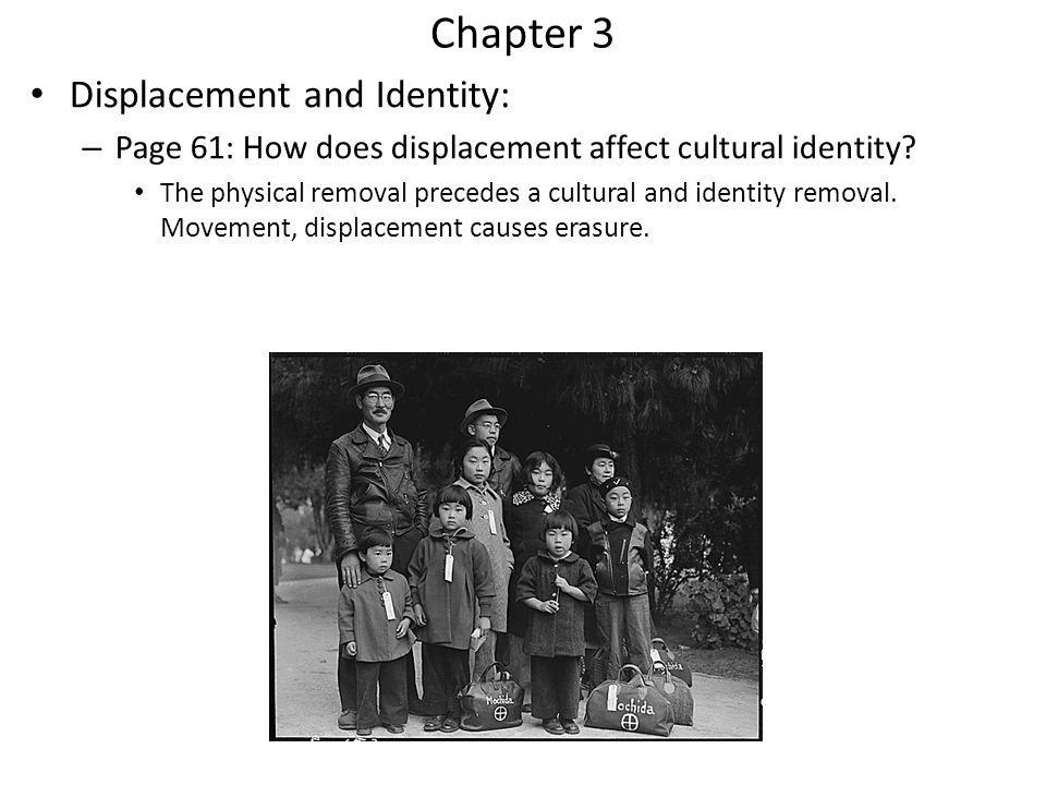 Chapter 3 Displacement and Identity: