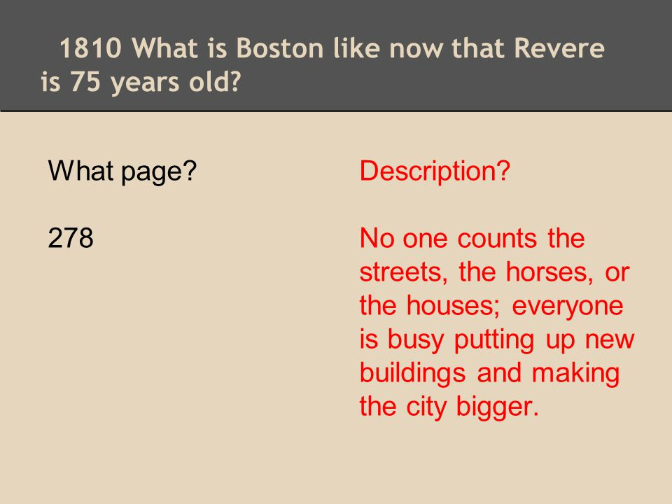 1810 What is Boston like now that Revere is 75 years old