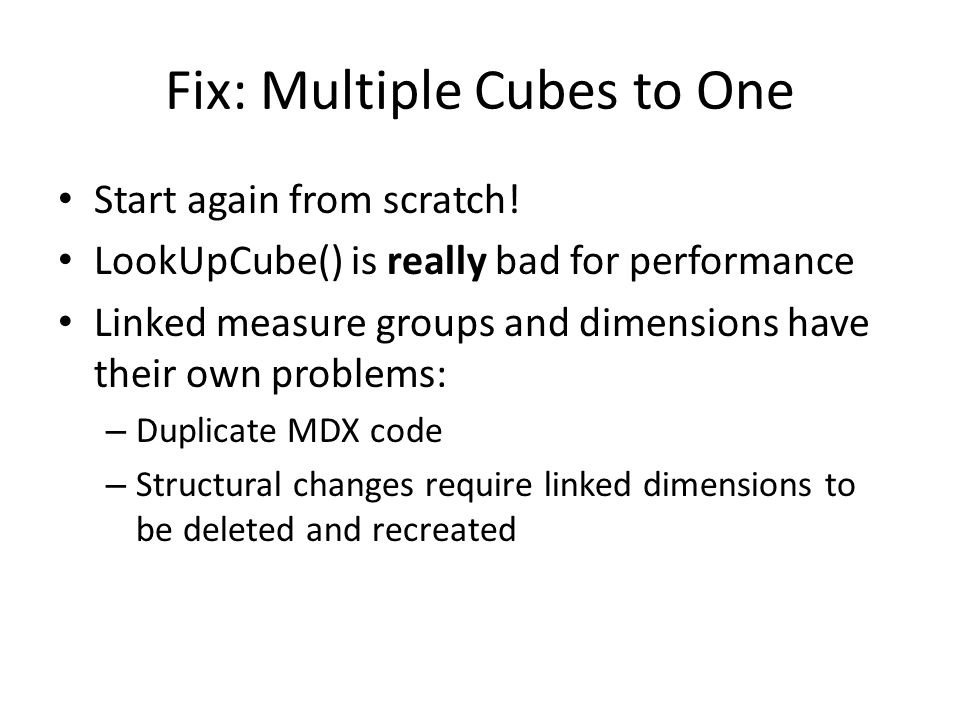 Fix: Multiple Cubes to One