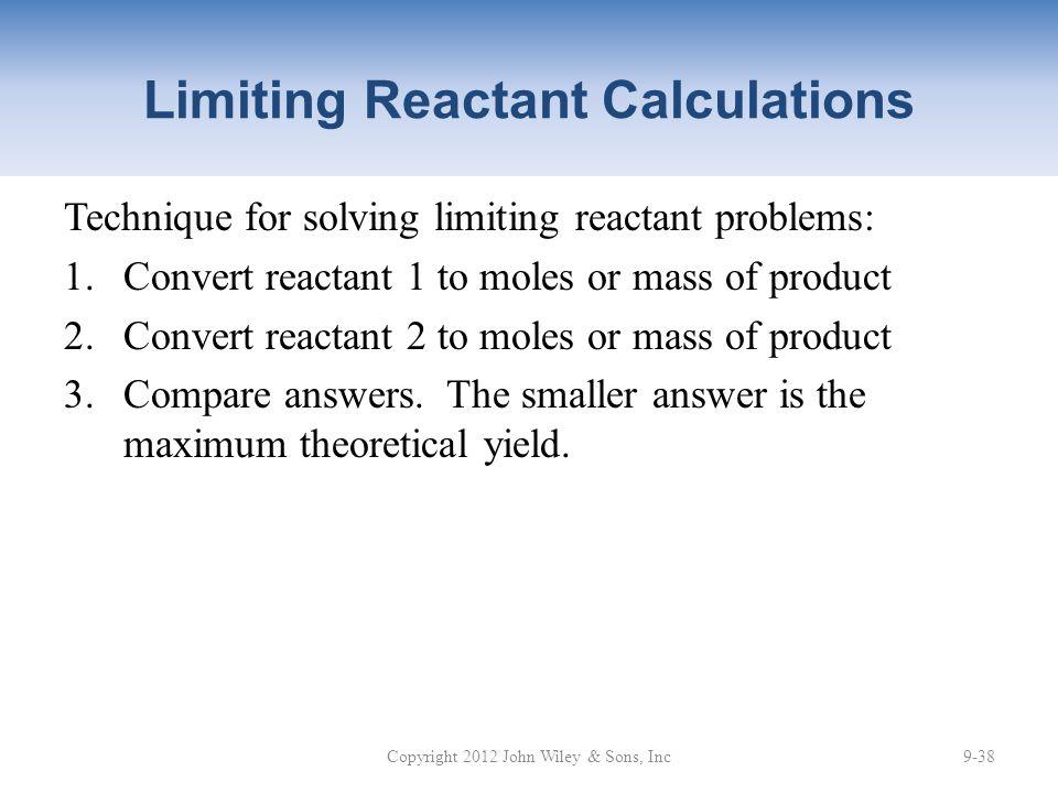 Limiting Reactant Calculations