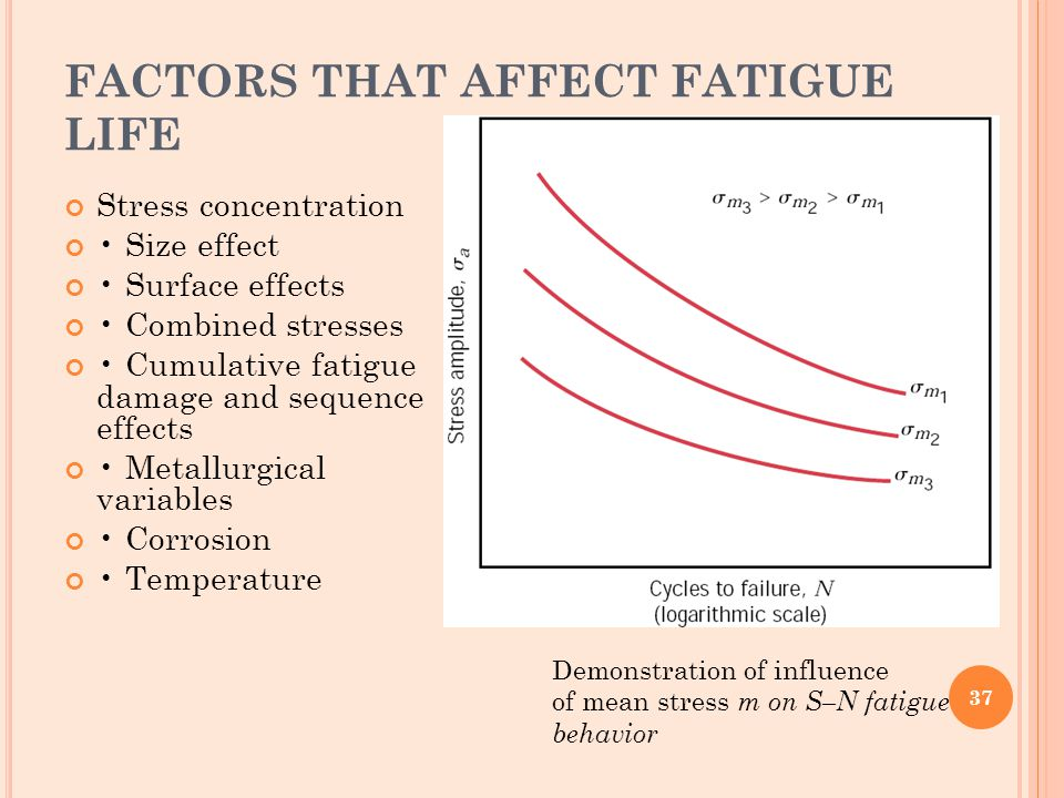 FACTORS THAT AFFECT FATIGUE LIFE