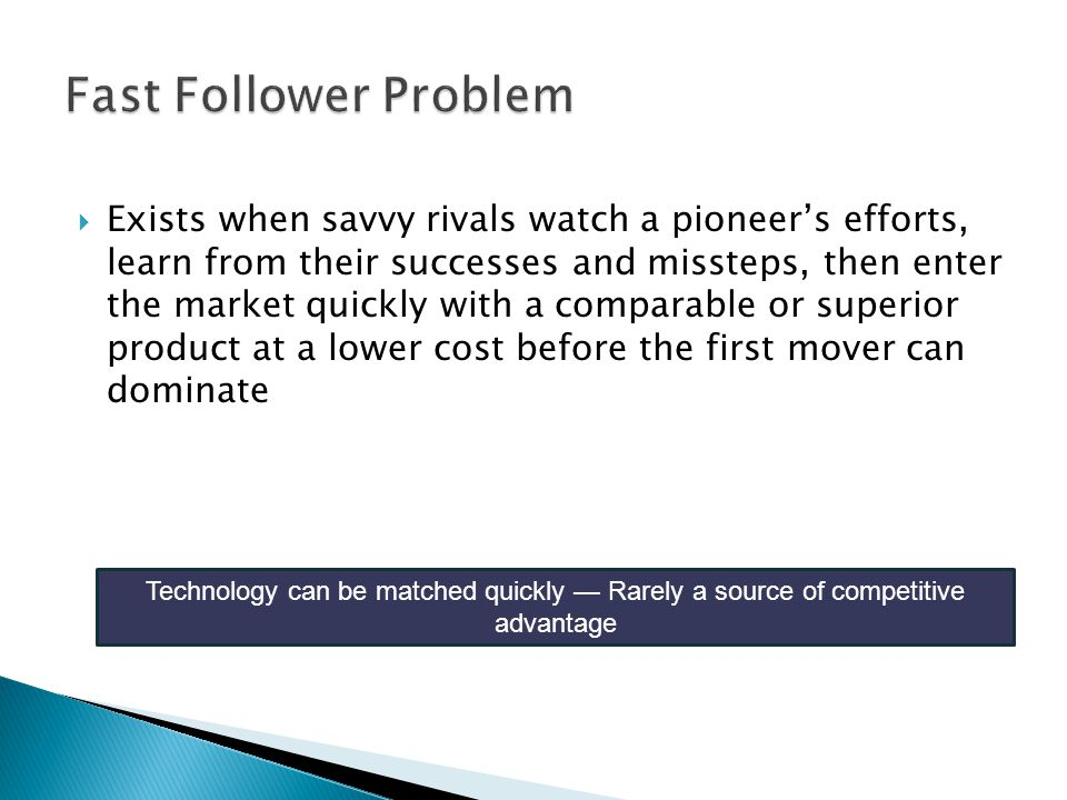 Fast Follower Problem
