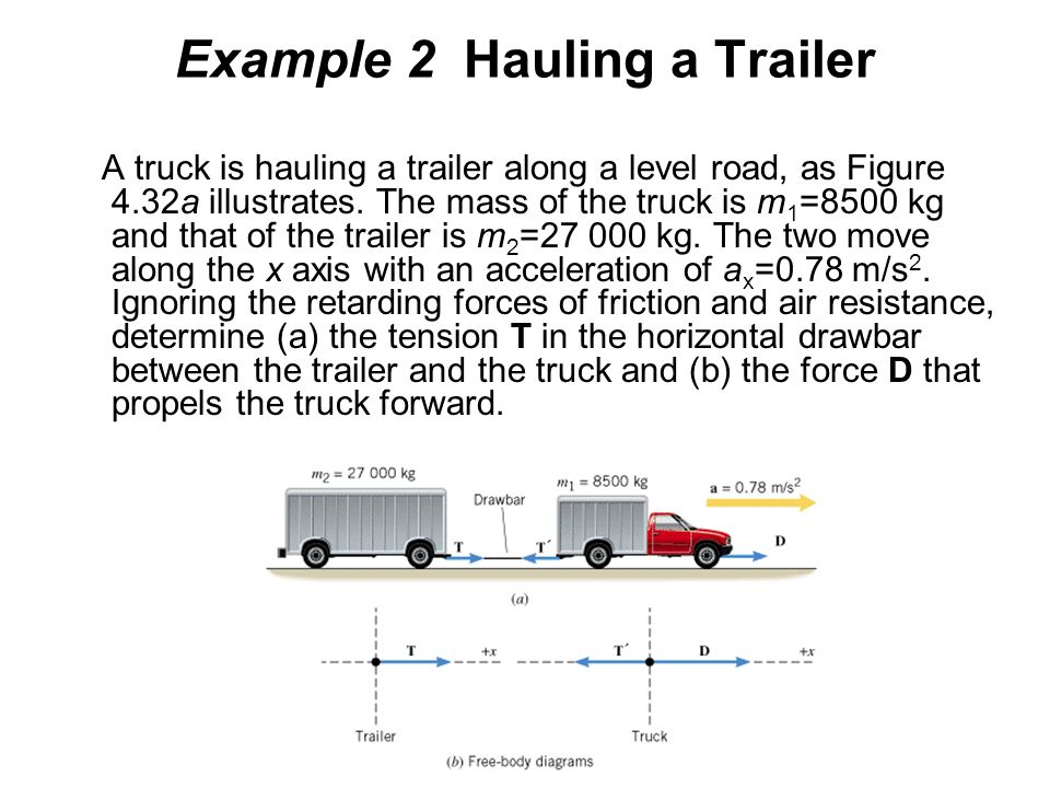 Example 2 Hauling a Trailer