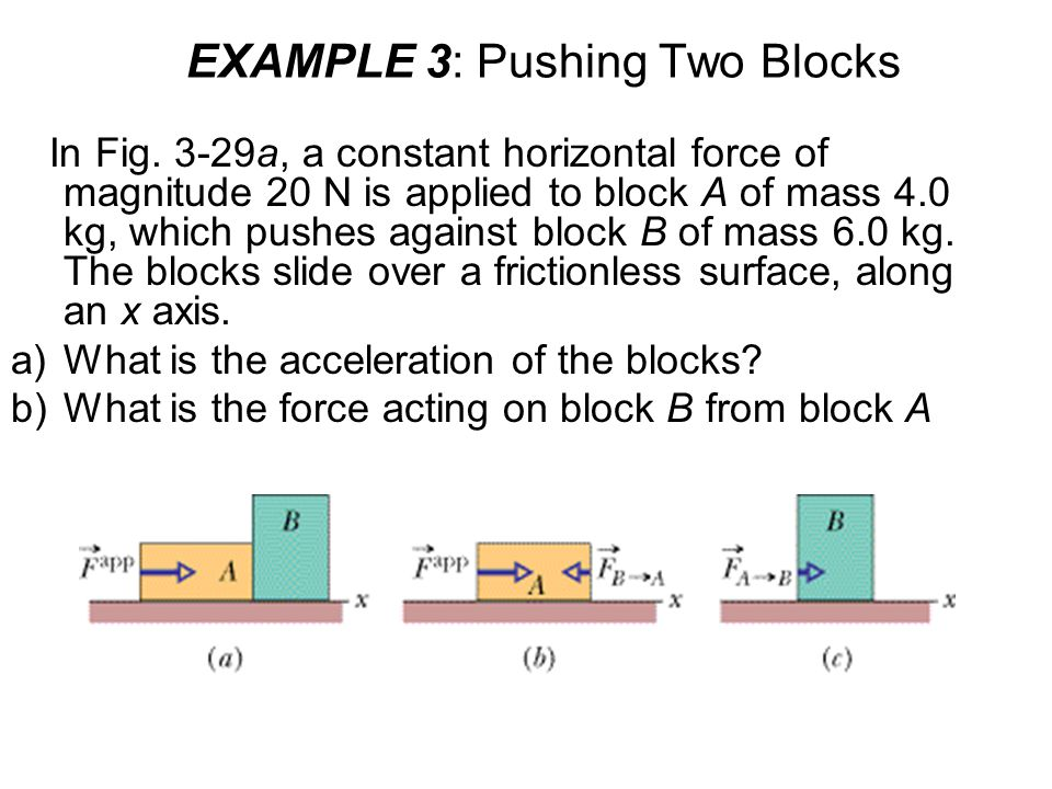 EXAMPLE 3: Pushing Two Blocks