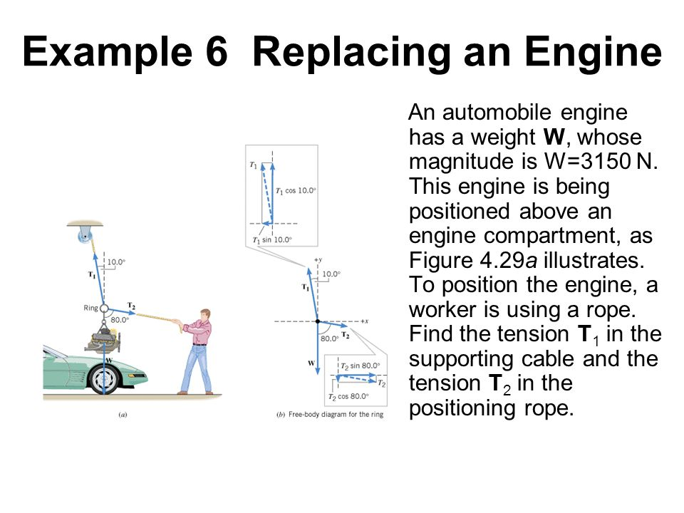 Example 6 Replacing an Engine