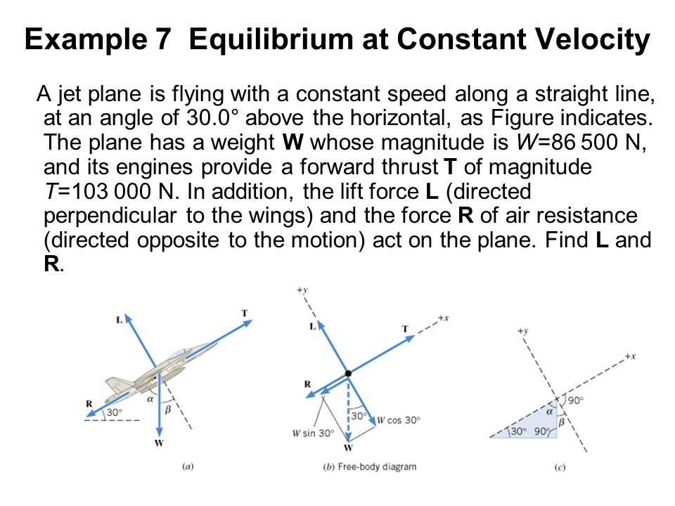 Example 7 Equilibrium at Constant Velocity