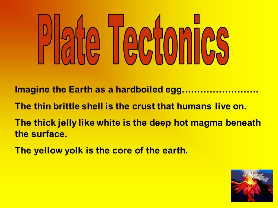 Plate Tectonics Imagine the Earth as a hardboiled egg…………………….