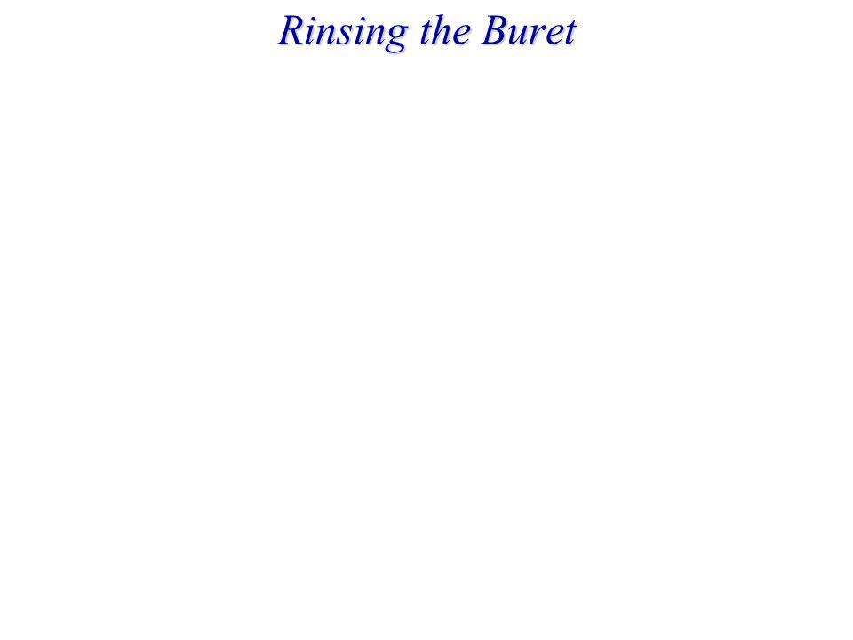 Rinsing the Buret