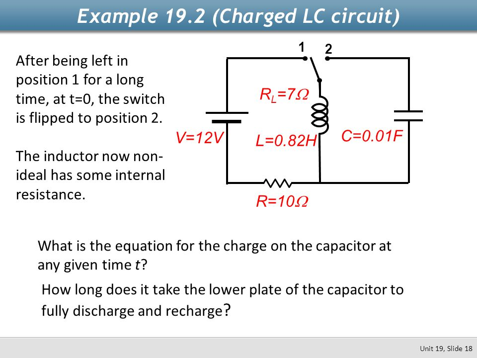 Example 19.2 (Charged LC circuit)