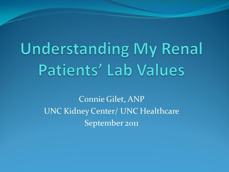 Understanding My Renal Patients' Lab Values