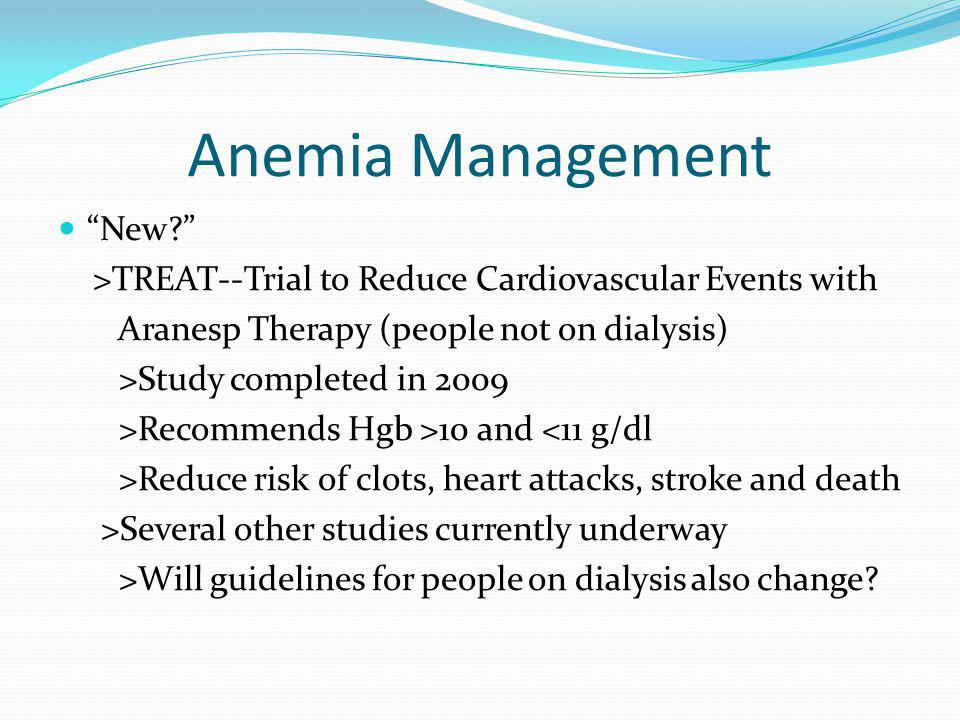 Anemia Management New