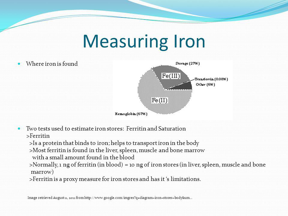 Measuring Iron Where iron is found