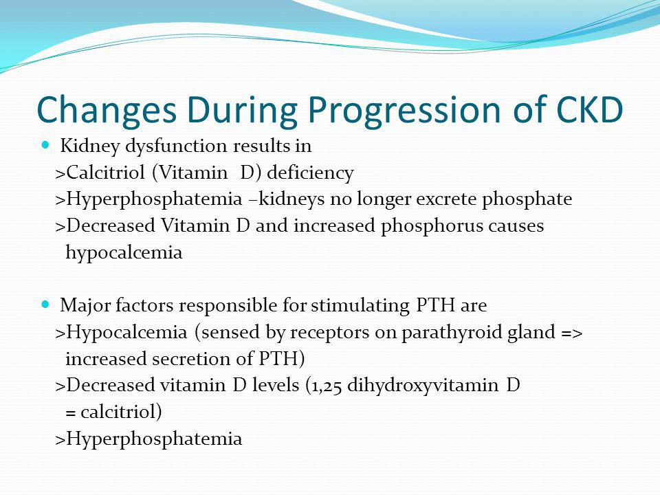 Changes During Progression of CKD