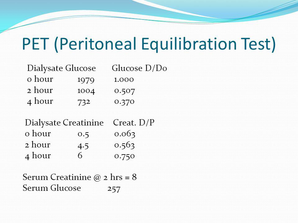 PET (Peritoneal Equilibration Test)