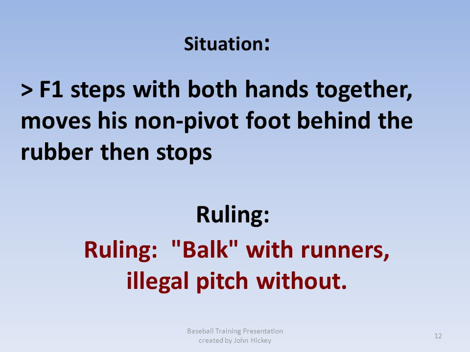 Ruling: Balk with runners,