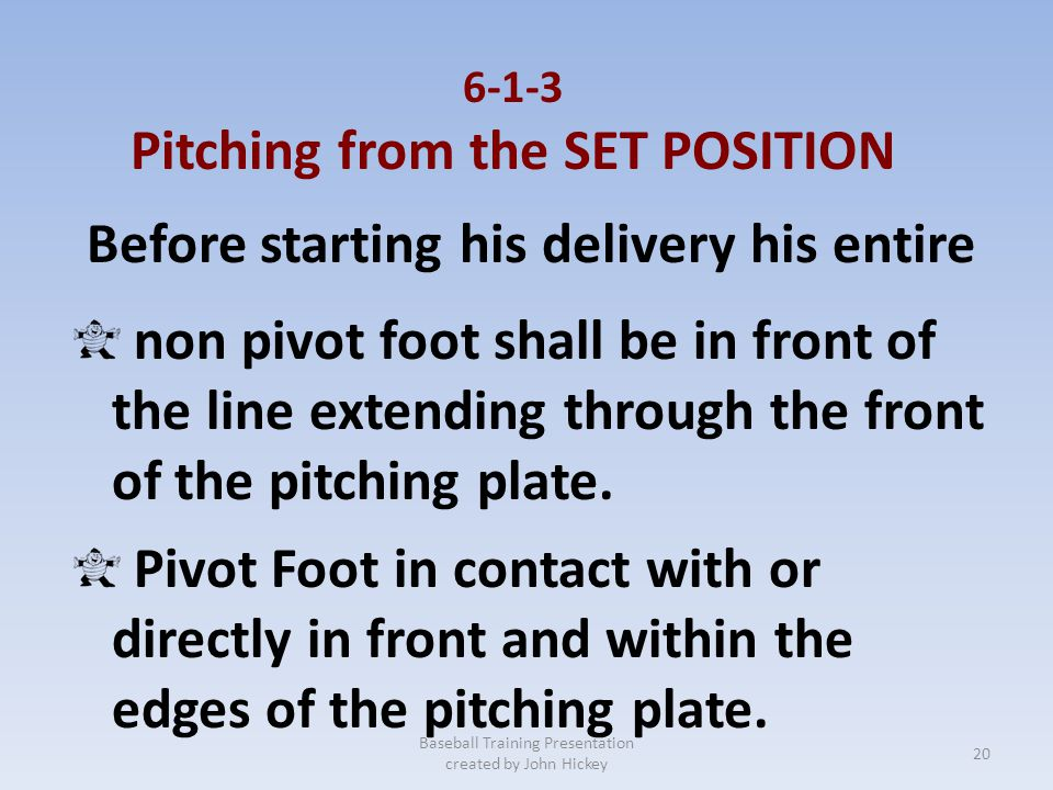 Pitching from the SET POSITION Before starting his delivery his entire