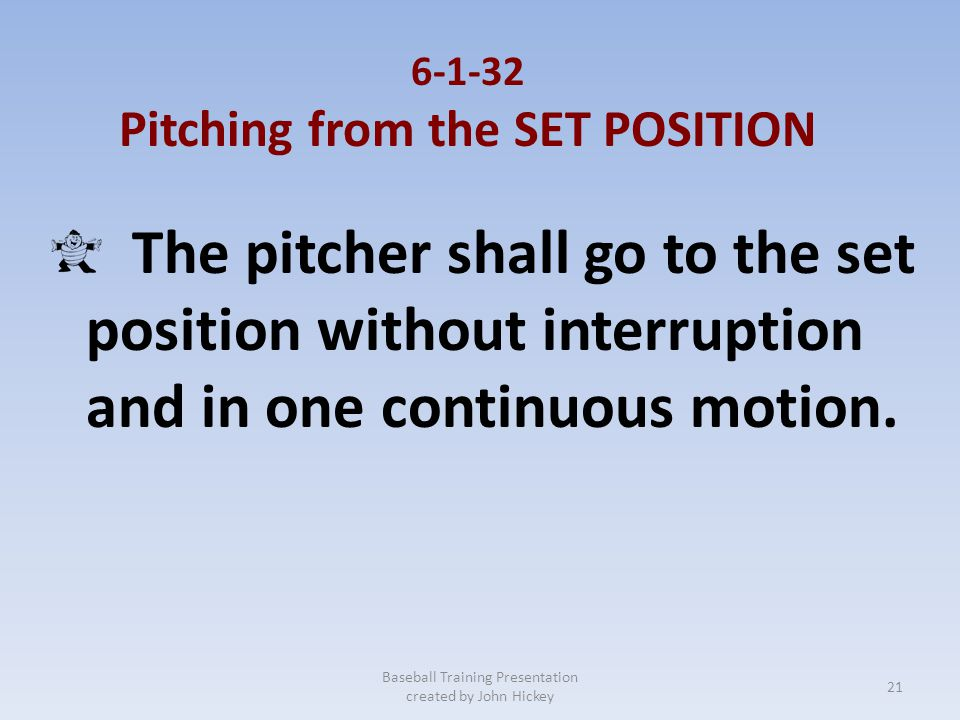 Pitching from the SET POSITION