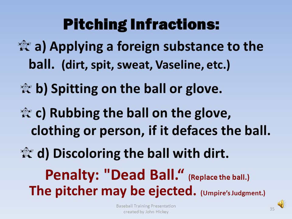 Pitching Infractions: