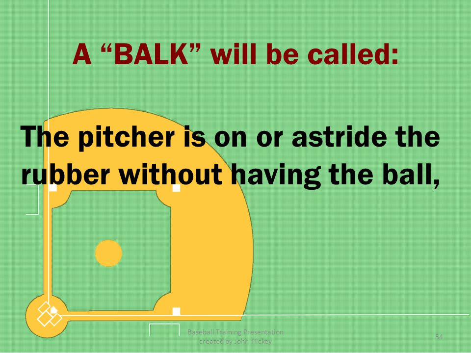 A BALK will be called: