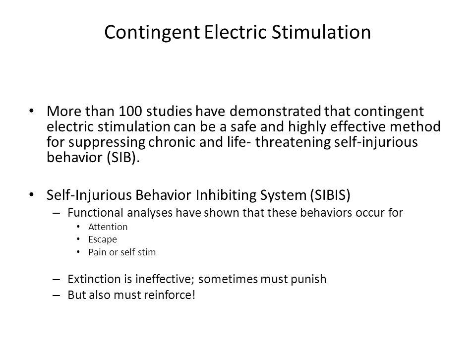 Contingent Electric Stimulation