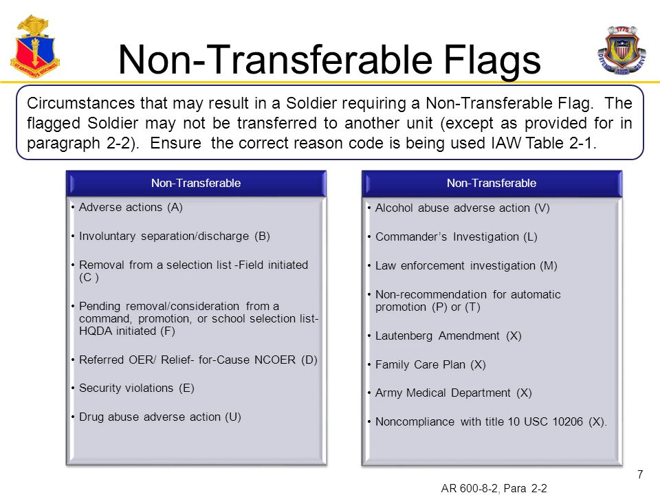 Non-Transferable Flags