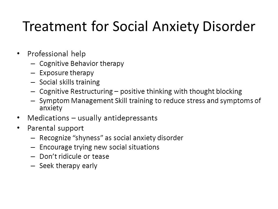 an overview of the social anxiety disorder in the medical research Social anxiety (social anxiety disorder or social phobia) is a mental illness in which a person has a fear of or worry concerning social situations that doesn't go away.