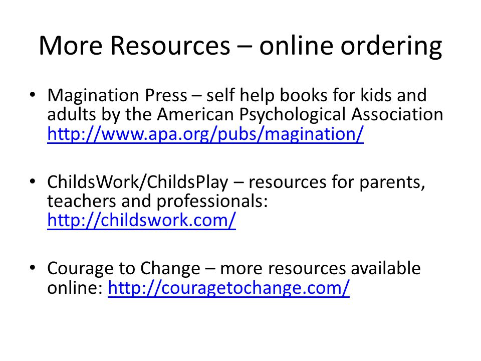 More Resources – online ordering