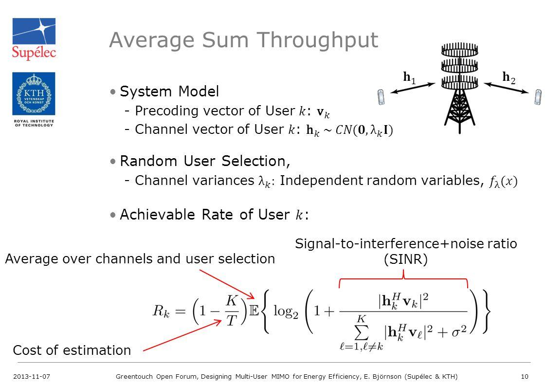 Average Sum Throughput
