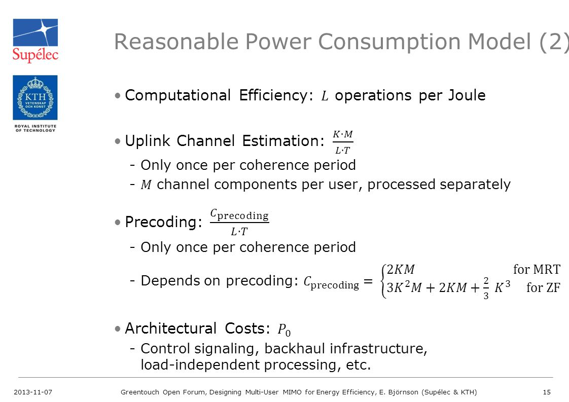 Reasonable Power Consumption Model (2)